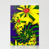 Hearts & Flowers Stationery Cards