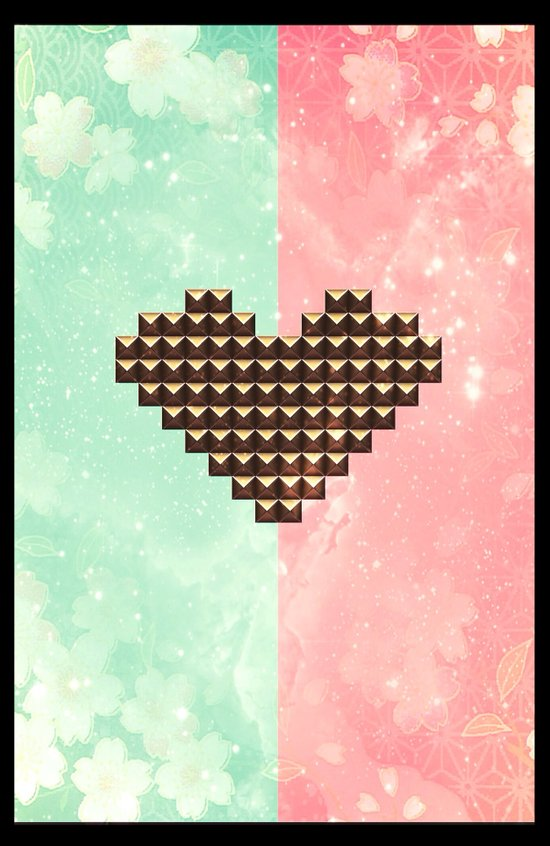 Studded Heart - for iphone Art Print