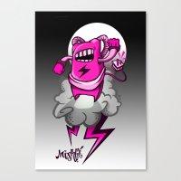 Strombot - Pink Robot Canvas Print