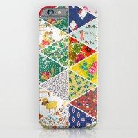 Geometric Floral Quilt iPhone 6 Slim Case
