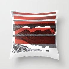 Red Terrain Throw Pillow