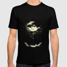 MOON CLIMBING Mens Fitted Tee Black SMALL