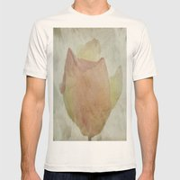 Textured Rose Mens Fitted Tee Natural SMALL