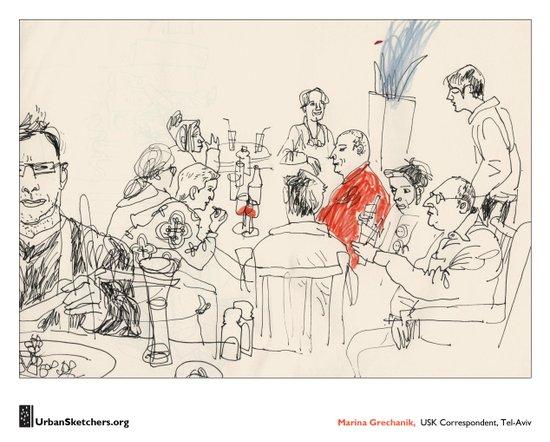 "Marina Grechanik, ""Meal"" Canvas Print"