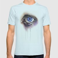 You Caught My Eye Mens Fitted Tee Light Blue SMALL