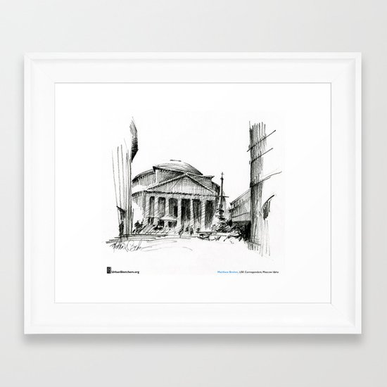 "Matthew Brehm, ""Roma Pantheon"" Framed Art Print"