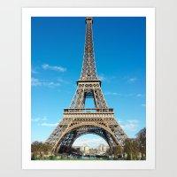 Eiffel Tower in Paris, France Art Print