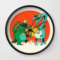 Kaiju Rap Battle Wall Clock