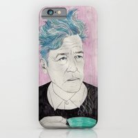 iPhone & iPod Case featuring David Lynch drinking coffee. by Mexican Zebra