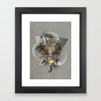 Keep calm and breathe deeply Framed Art Print