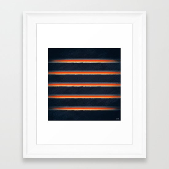 urban midnight Framed Art Print