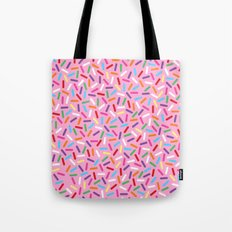 Pink Donut with Sprinkles Tote Bag