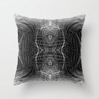 Black & White Waves Throw Pillow