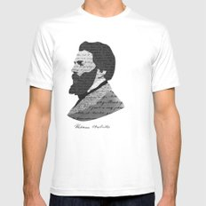 Herman Melville White Mens Fitted Tee SMALL