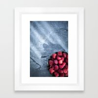 Red Raspberries - Yummy!… Framed Art Print