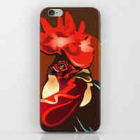 Andalusian Rooster 2 iPhone & iPod Skin