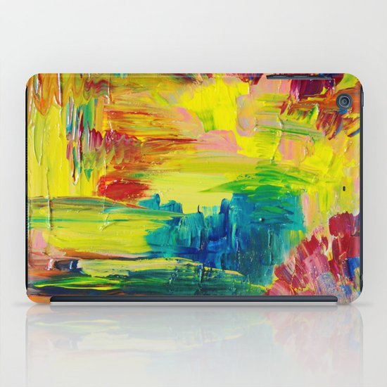 GOING THROUGH THE MOTIONS -  Stunning Saturated Bold Colors Modern Nature Abstract iPad Case