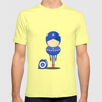 My Dreaming Hero! Mens Fitted Tee Lemon SMALL