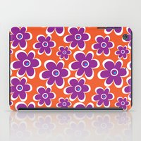retro purple flower iPad Case