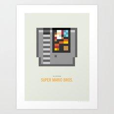 Super Mario Bros. Cartridge Art Print