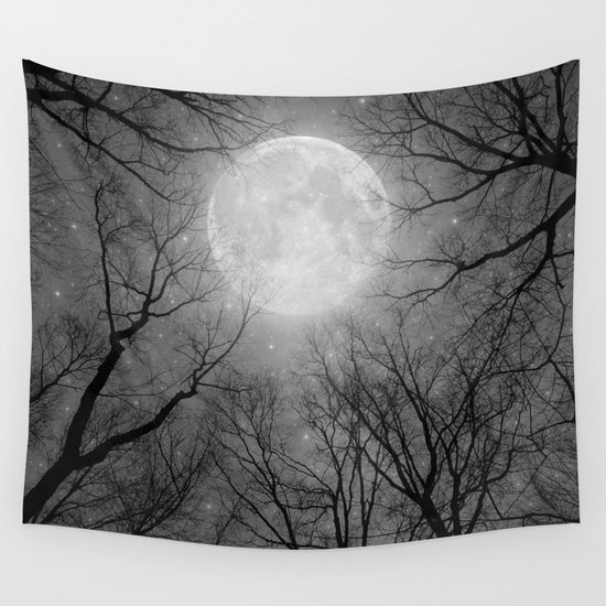 May It Be A Light (Dark Forest Moon) Wall Tapestry by Soaring Anchor Designs | Society6
