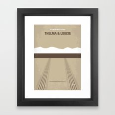 No189 My Thelma and Louise minimal movie poster Framed Art Print