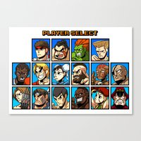 Street Fighter Player Se… Canvas Print