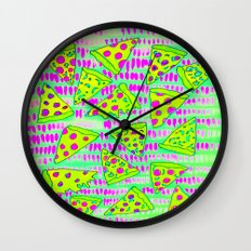Pizza Party Wall Clock