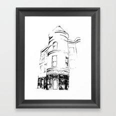 Architectural Corner Sketch Framed Art Print