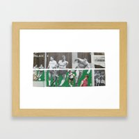 A Game Of 2 Halves Framed Art Print
