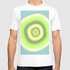Circles Mens Fitted Tee White SMALL