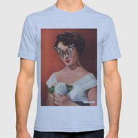 ELIZABETH TAYLOR.  (PIN-UPS). Mens Fitted Tee Athletic Blue SMALL