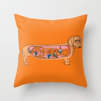 Secrets Of The Dachshund… Throw Pillow