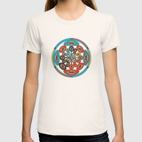 Round geometric design Womens Fitted Tee Natural SMALL