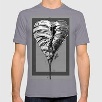Razor Blade Romance (Black and White Version) Mens Fitted Tee Slate SMALL