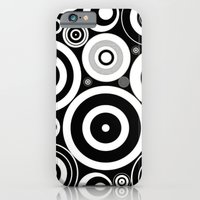 Black And White Circles iPhone 6 Slim Case