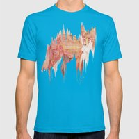 Remix Red Fox Mens Fitted Tee Teal SMALL
