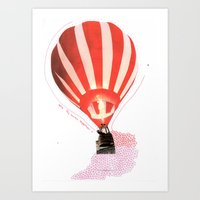 Let's Fly Away Together Art Print