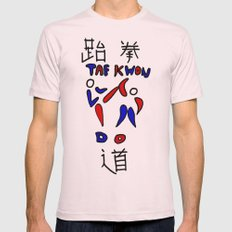 Taekwondo Mens Fitted Tee Light Pink SMALL