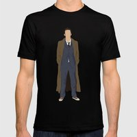 David Tennant As Dr Who Mens Fitted Tee Black SMALL