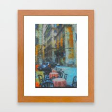 Morning Coffee in Rome Framed Art Print