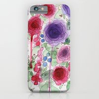 iPhone Cases featuring Rosebud by Obrianna