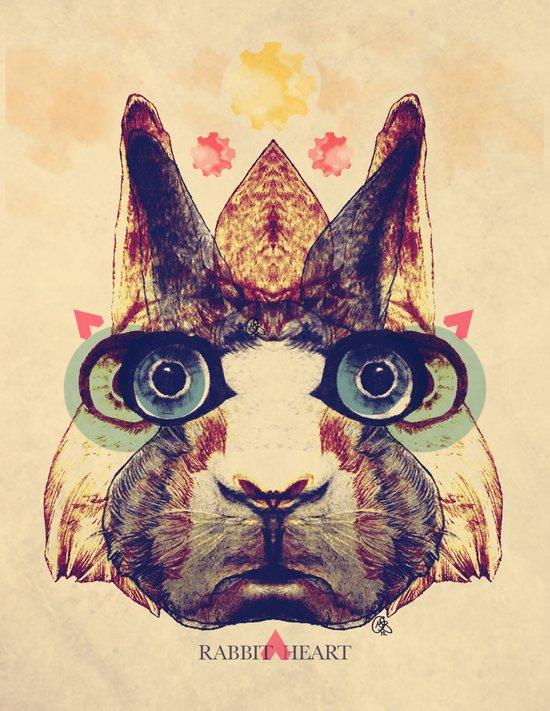 Rabbit Heart Art Print