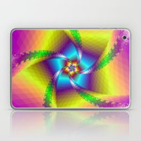 Whirligig in Yellow Blue and Green Laptop & iPad Skin