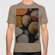 Like Pebbles On The Beac… Mens Fitted Tee Tri-Coffee SMALL