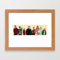 Characters - Modern Outf… Framed Art Print