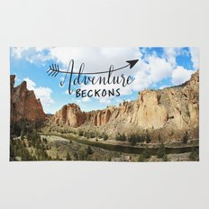 adventure beckons- Smith Rock Oregon Rug
