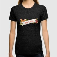 Join Today! Womens Fitted Tee Tri-Black SMALL