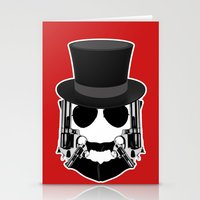 Gun Face Stationery Cards