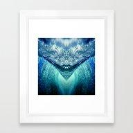 Ocean Vortex Framed Art Print